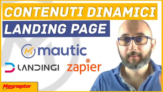 tutorial mautic landing page + contenuti dinamici
