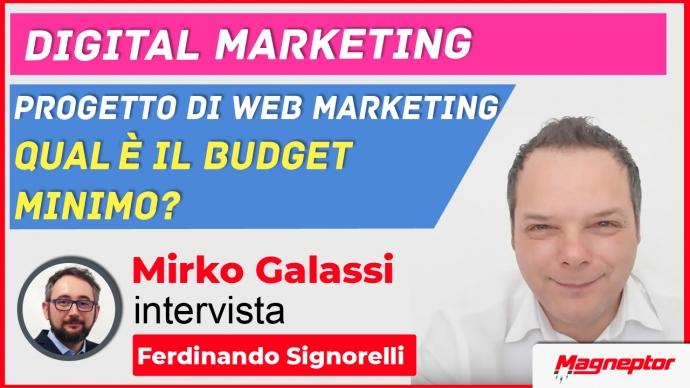 budget webmarketing minimo