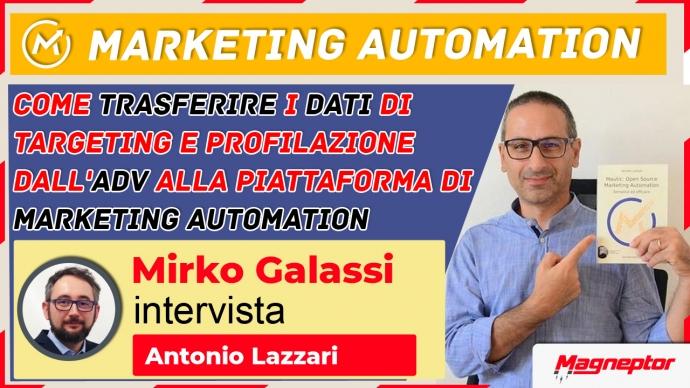 trasferire i dati di targeting e profilazione dall'adv alla piattaforma di marketing automation